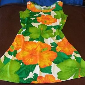 Hibiscus Poly Shift Dress